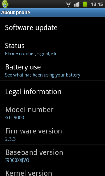 Galaxy S - Android 2.3.3