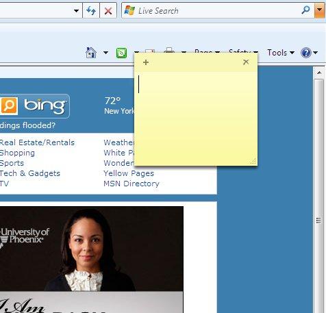 Windows 7 Stricky Notes