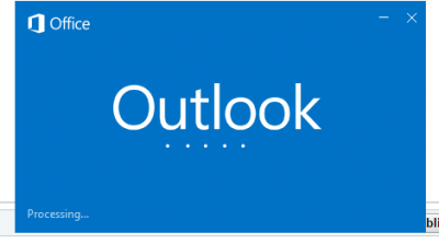 "Outlook not working, staying in ""prcoessing..."""