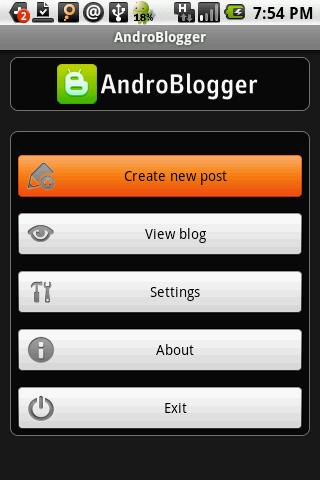 AndroBlogger