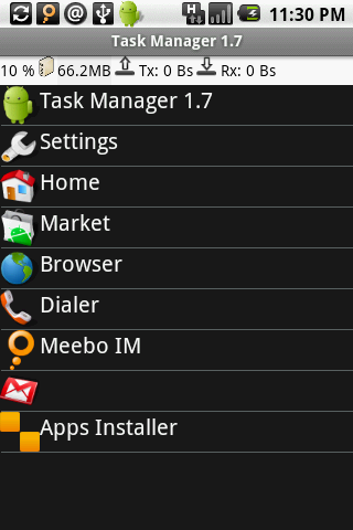 Android Task Manager - Task View
